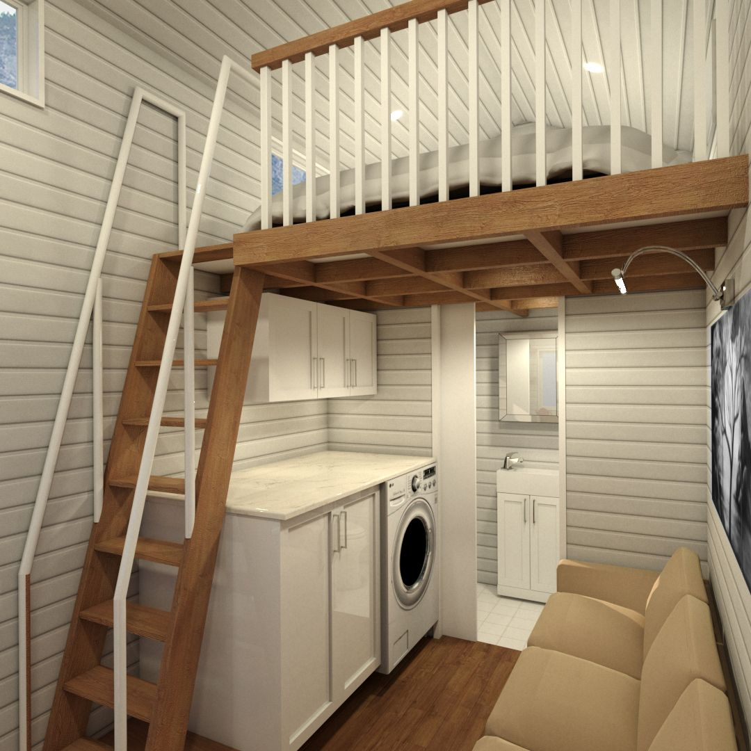 Tiny Simple House Is Off The Back Burner: TINY CABIN - 4.8 Metre (16ft) Tiny House Plans