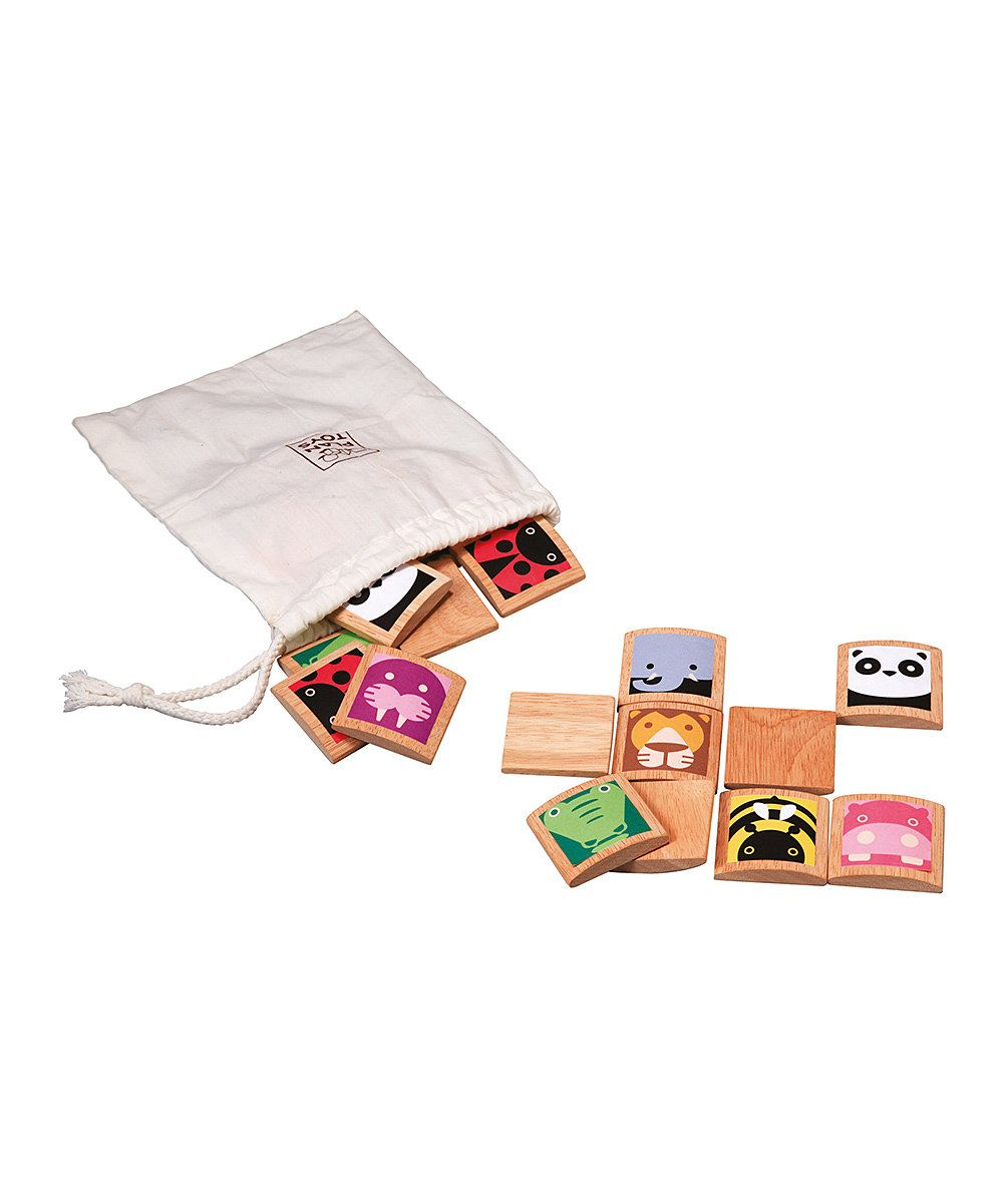 Look at this Wood Animal Memory Game Set on #zulily today!