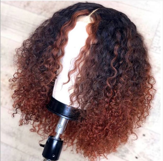 Ombre Curly Peruvian Lace Wigs With Baby Hair Pre Plucked Wig Hairstyles Curly Human Hair Wig Curly Hair Women