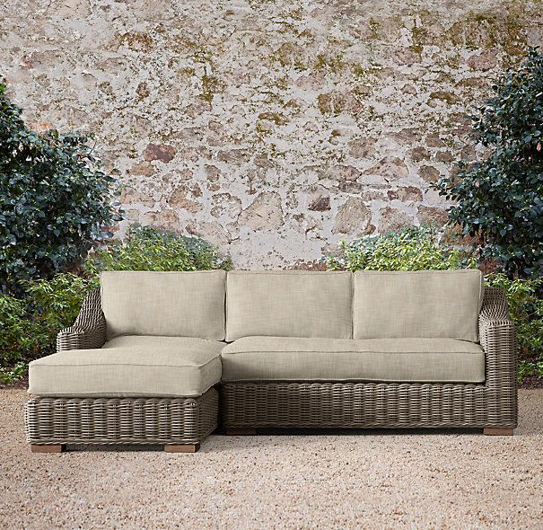 Provence Classic LeftArm Chaise Sectional Outdoor