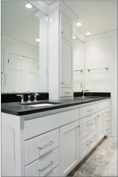 Bath Vanity Linen Tower Cabinet In Center All Rooms Bath
