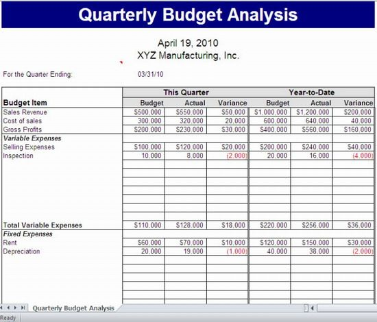 43 15 Best Microsoft Office Excel 2010 Budgeting Templates For