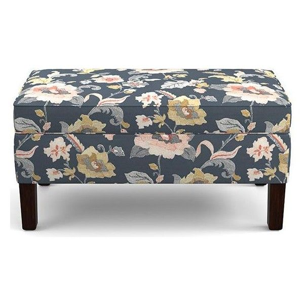 Pemberley Custom Upholstered Storage Bench Seasonal 319 Liked On Polyvore Featuring