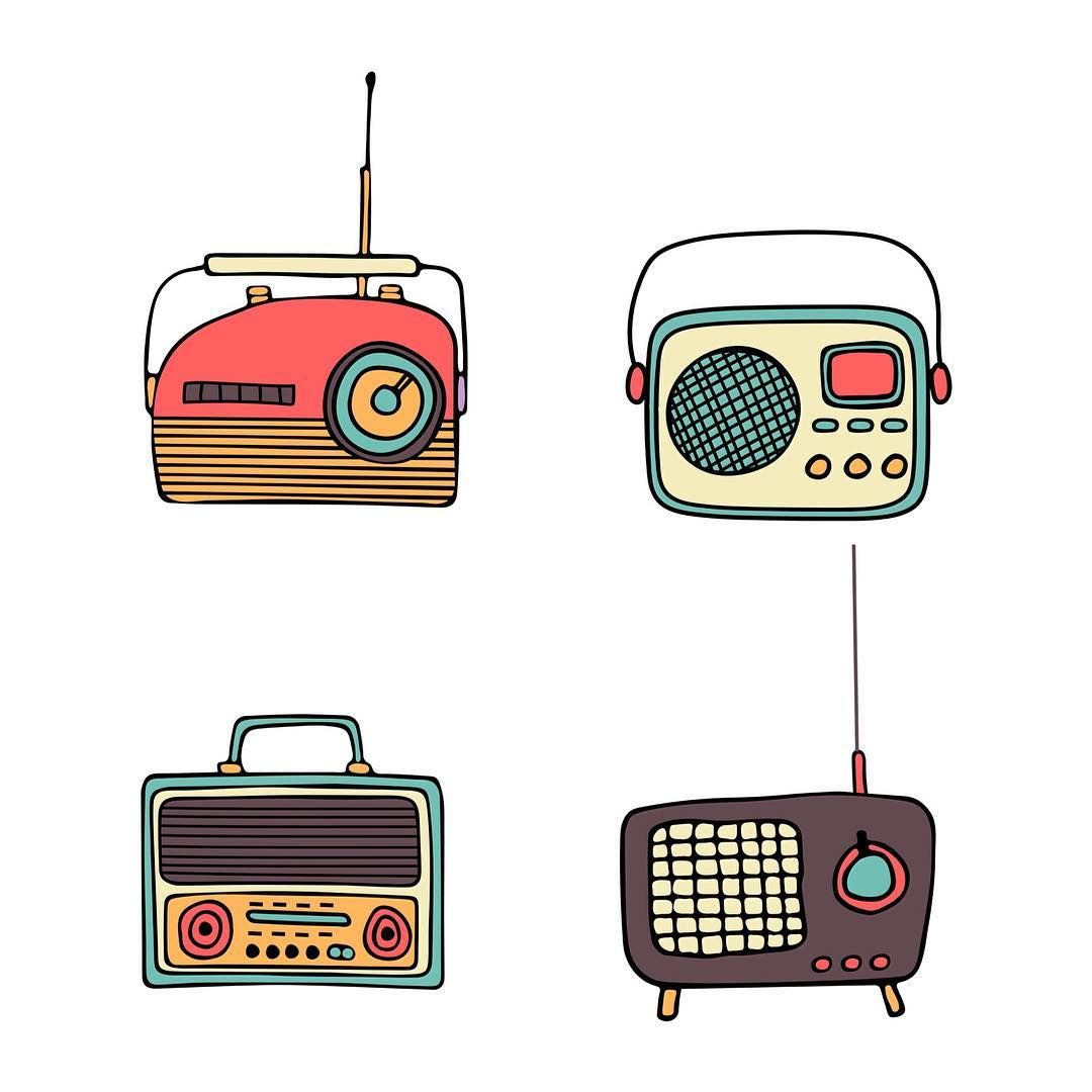 Turn Thoughts Volume Down In 2020 Radio Drawing Hipster Illustration Vintage Graphic Design