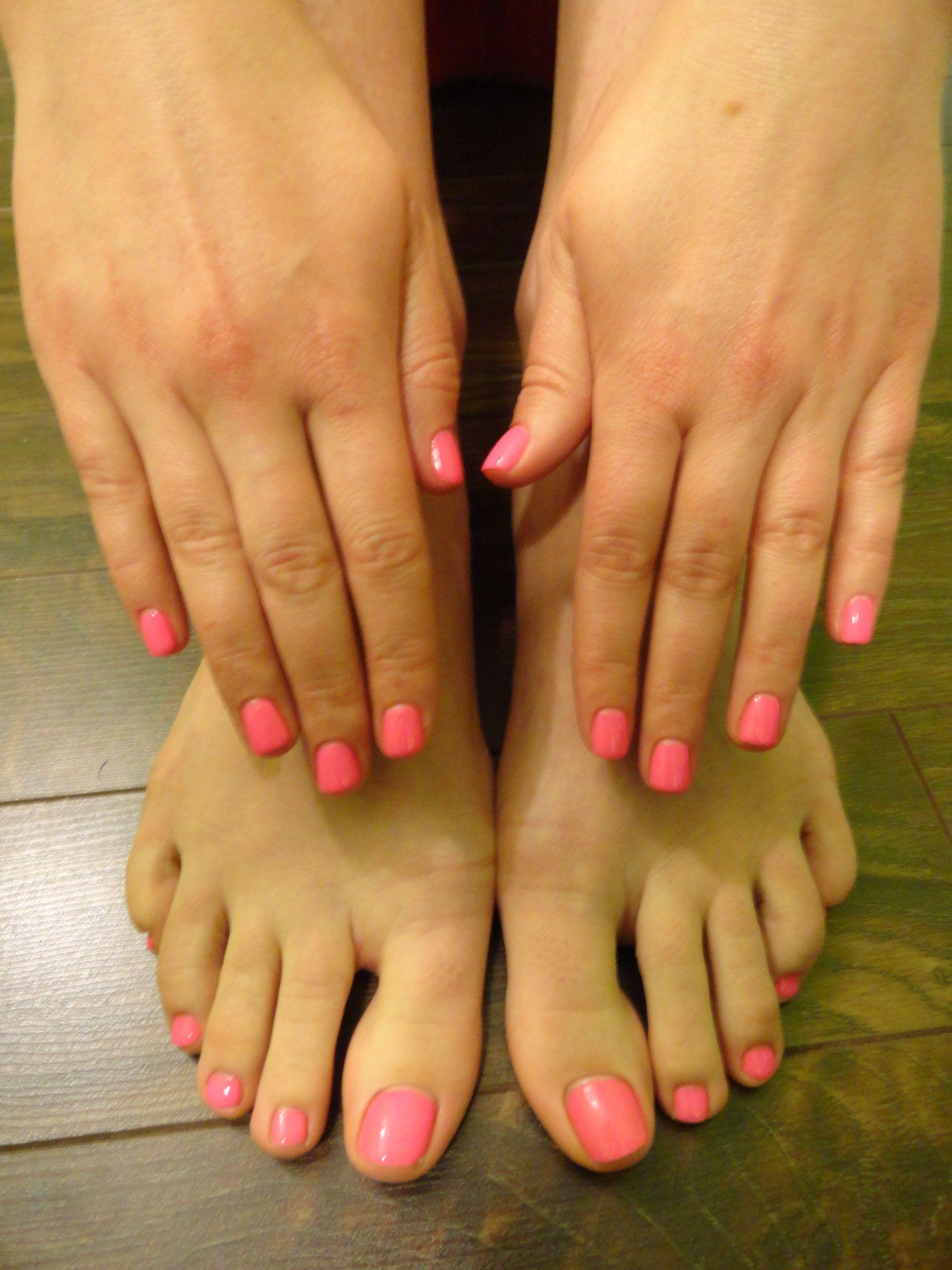 Pink Shellac Nails Amp Toes Pink Shellac Nails