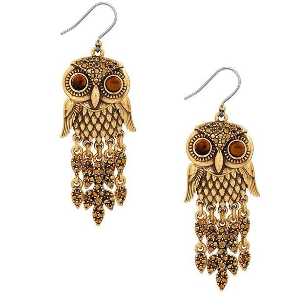Lucky Brand Owl Earrings 255 Dkk Liked On Polyvore Featuring Jewelry