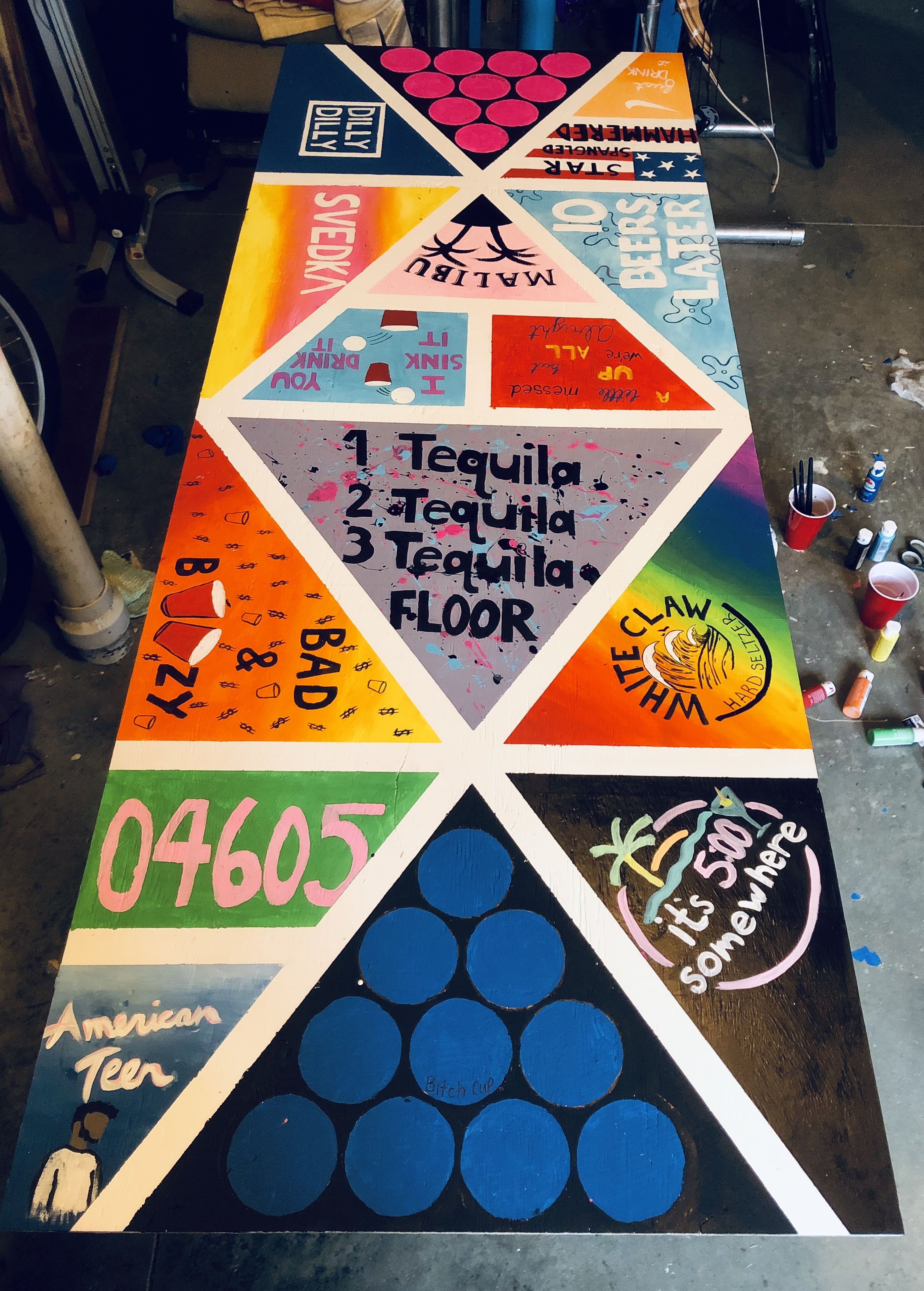 Diy Beer Pong Table In 2020 Beer Pong Table Painted Custom Beer Pong Tables Diy Beer Pong Table