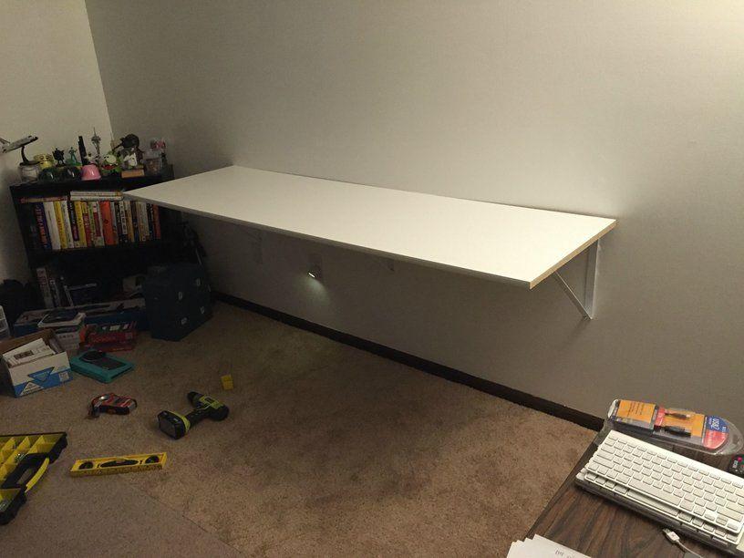 Hackers Help How Do I Wall Mount An Ikea Linnmon Table Securely Ikea Hackers Room Setup Ikea Game Room Kids
