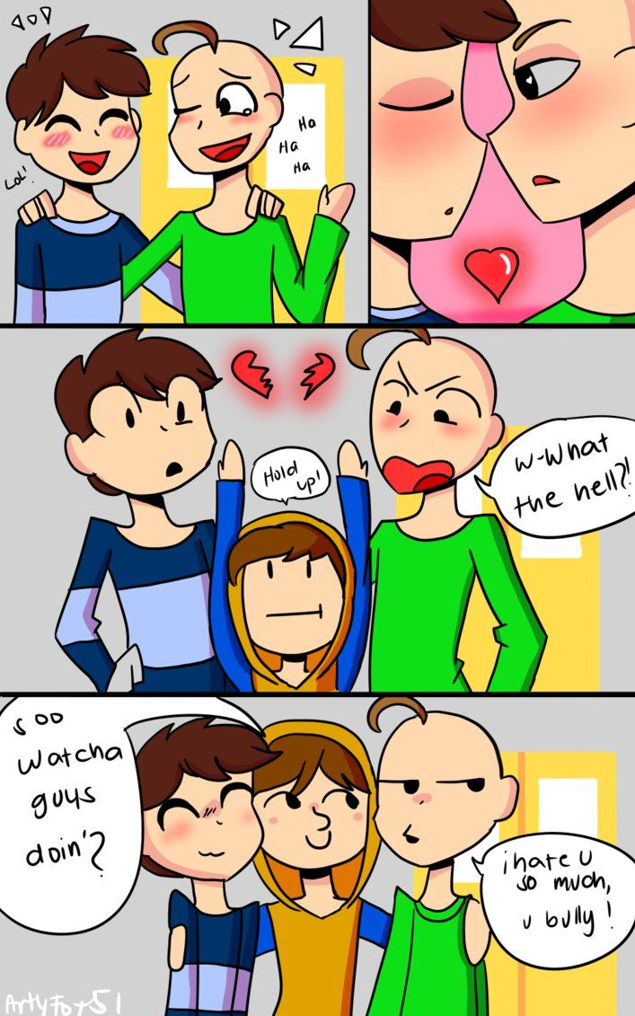 Goddamit Bully Baldi S Basics Comic By Artyfox51 Bullying