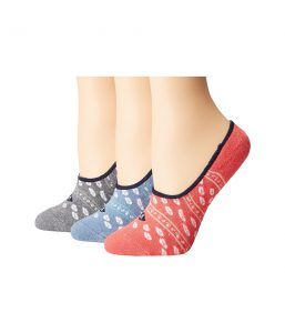 Sperry Top-Sider Cushion Canoe Liners (Infinity Blue Assorted) Women's No Show Socks Shoes