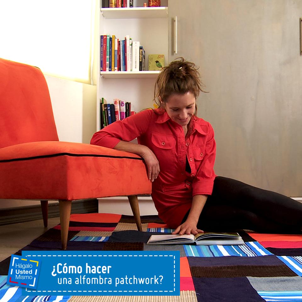C mo hacer una alfombra patchwork hum diy manualidades sodimac homecenter reparaci n y - Como hacer pachwork ...