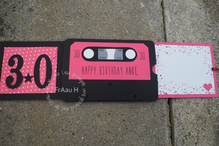 ziehkarte 90er jahre party geburtstag kassette gorgeous grunge stampin up itty bitty. Black Bedroom Furniture Sets. Home Design Ideas