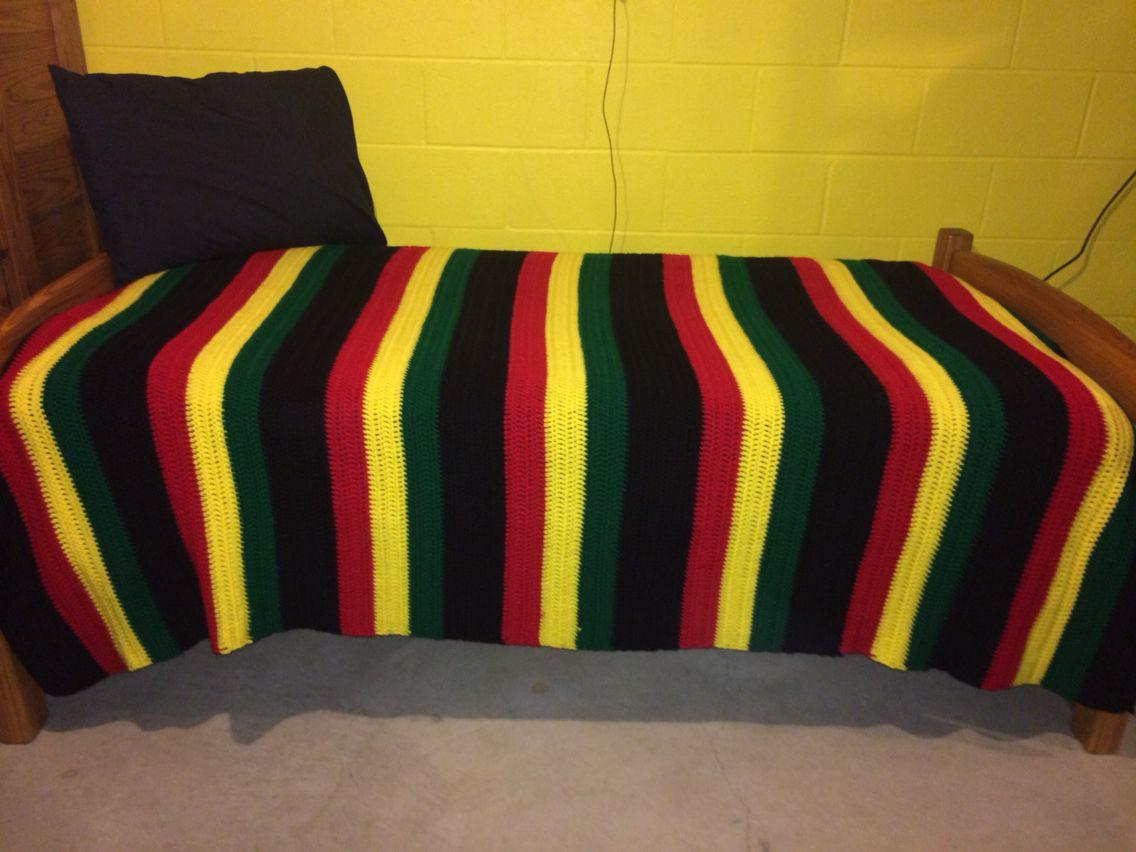 Crocheted Rasta twin bedspread/blanket! | Yarn Works! | Pinterest ...
