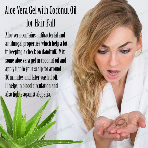 Aloe Vera Gel With Coconut Oil For Hair Fall Antihairfall