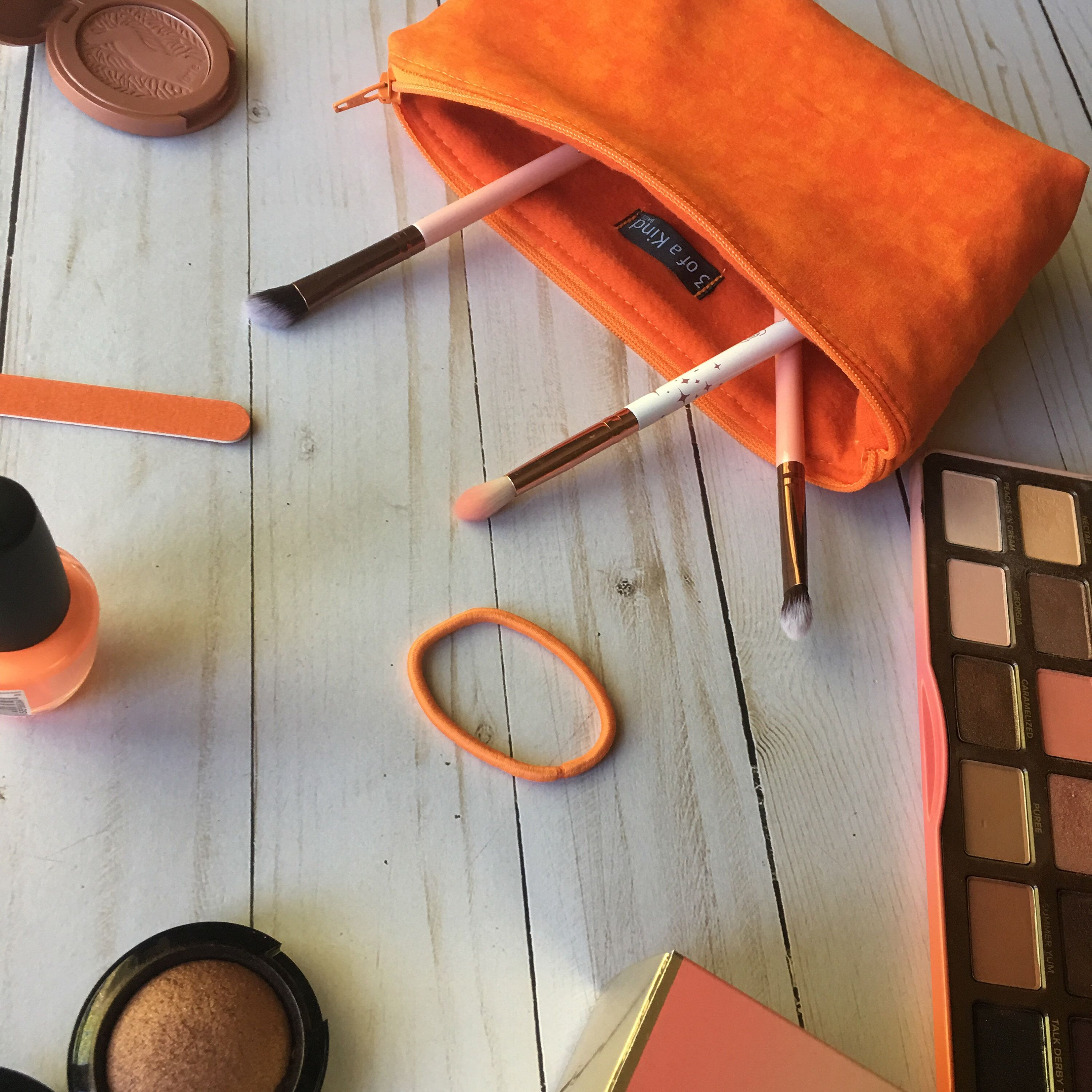 Excited to share the latest addition to my  etsy shop  Small Orange Makeup  Bag  f605e76ae7de4
