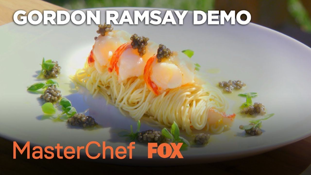 Gordon Ramsay Demonstrates How To Prepare A Lobster Dish