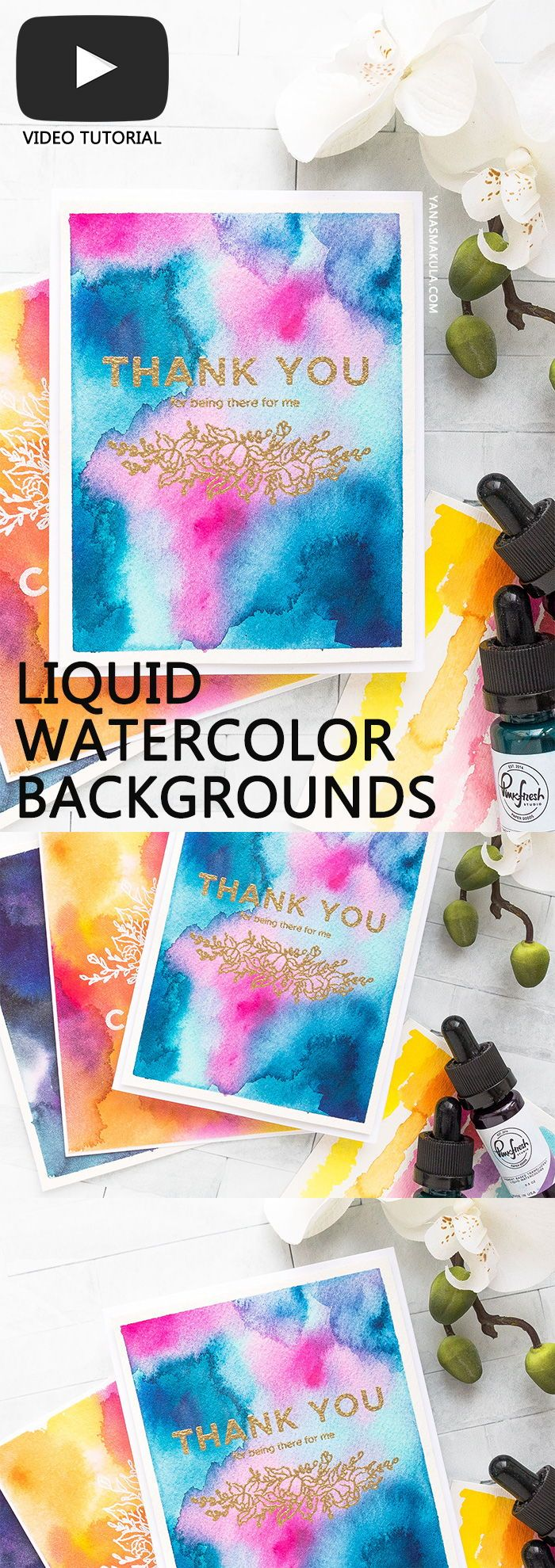Watercolor Backgrounds With Liquid Watercolors With Pinkfresh