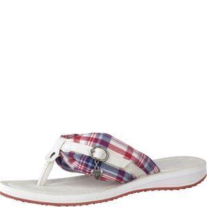 Tamaris-Schuhe-Pantolette-DEN./RED-CHECK-Art.:1-1-27109-22/821