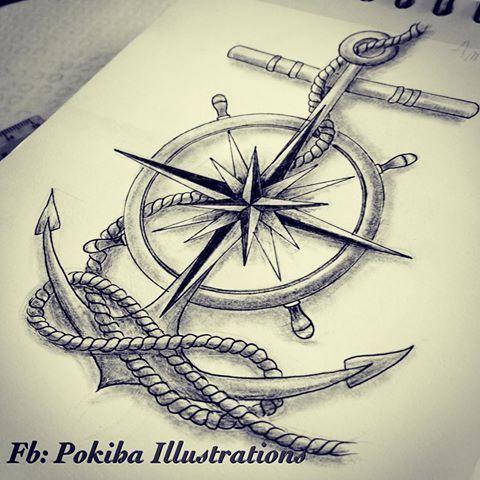 Photo of Résultat de l'image pour les tatouages d'ancre de la boussole de marin … – motif de tatouage, # ancre # boussole # image …