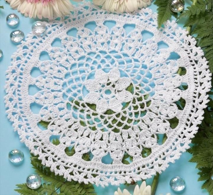 Free Crochet Round Doily Patterns | Crochet Stitches | Pinterest ...