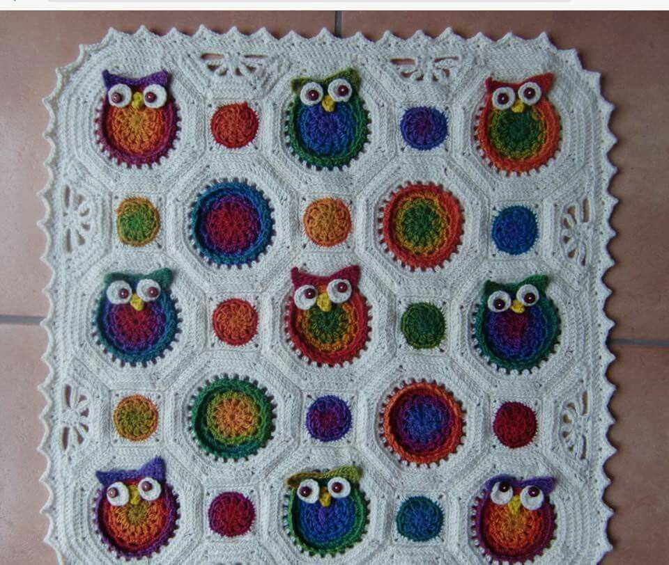 Granny Eulen Decke Häkeln Crochet Knitting Und Yarn Crafts