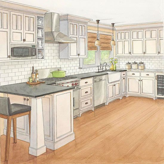 One Kitchen Two Budgets Craftsman Style Craftsman
