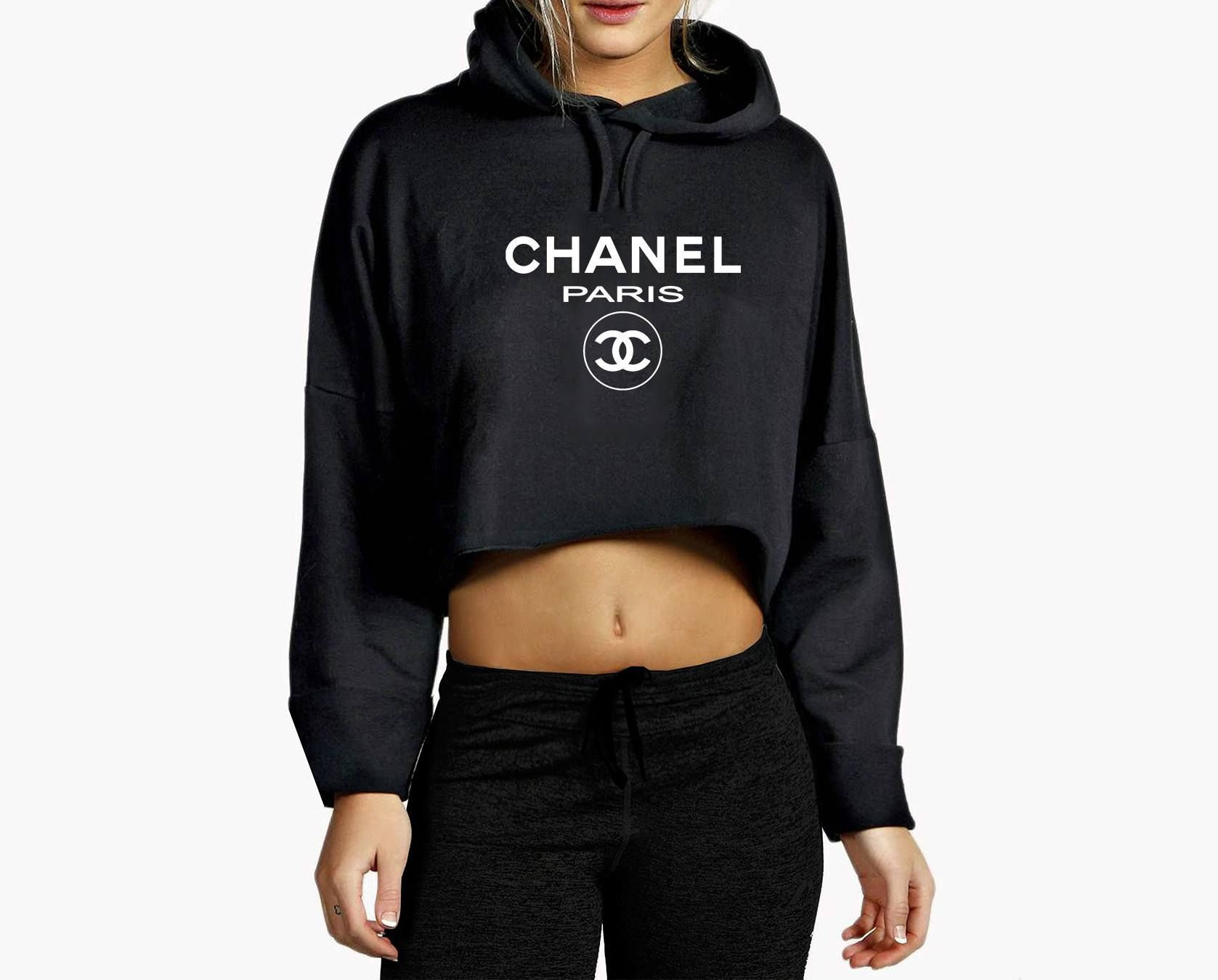 chanel hoodie. chanel paris top cropped hoodie if you\u0027re looking for a top-quality, l