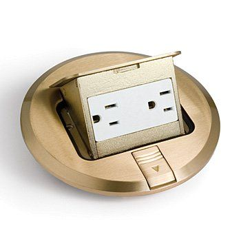 Hubbell Raco 6239bp Brass Plated Concealed Receptacle