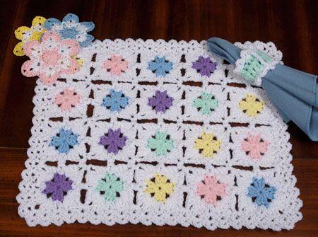 Velikonoční Patchwork prostírání | #beautiful #crochet | Pinterest ...