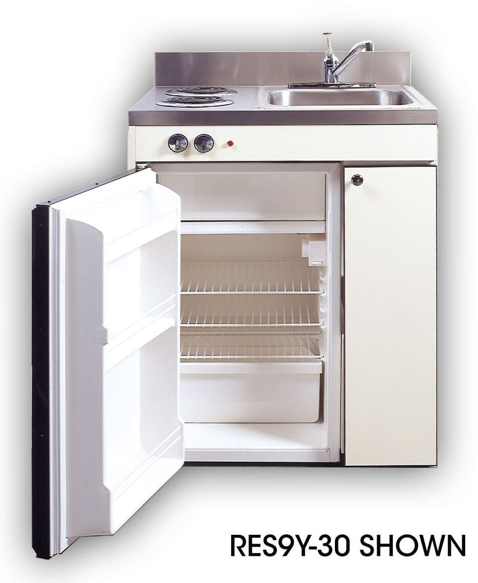 Acme rgsy compact kitchen with sink compact refrigerator and