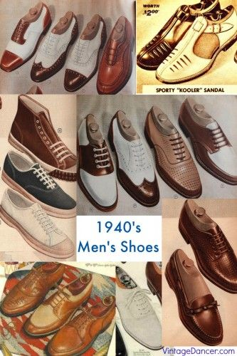 1940s Shoes For Men History And Buying Guide 1940s Shoes 1940s Mens Fashion Dress Shoes Men