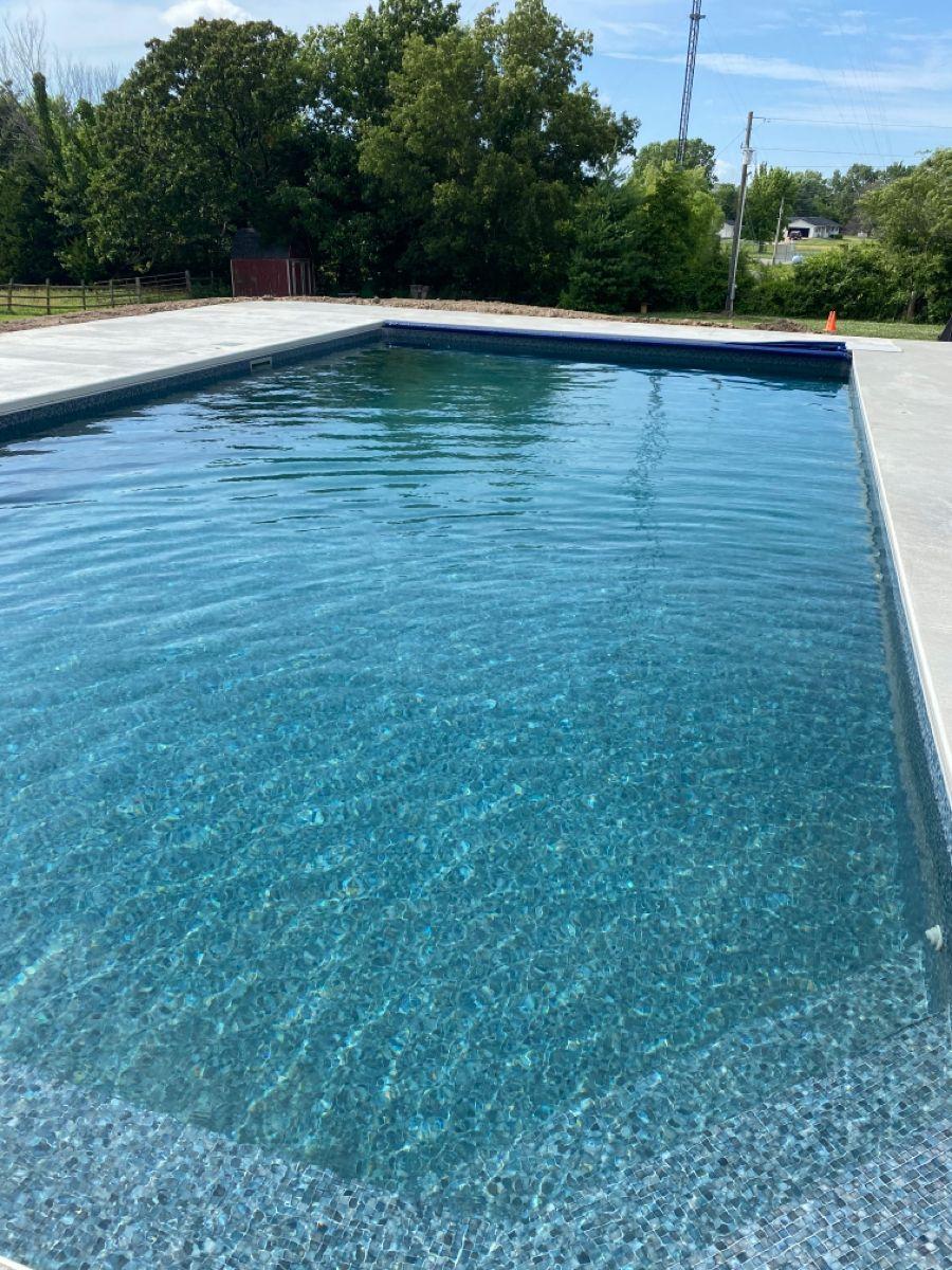 Dark gray mosaic in 2020 pool liners mosaic pool pool