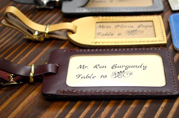 Luggage tags as escort cards/favors | Wedding Ideas | Pinterest ...