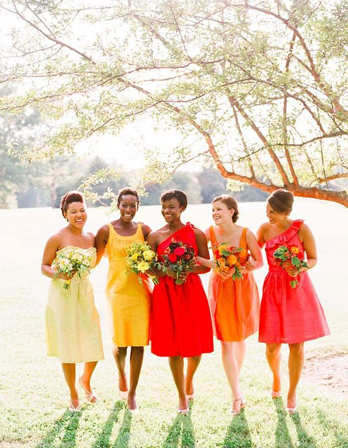 cbe0ab04895 The Most Stunning Summer Bridesmaid Dresses Of 2018  Bright and bold colors  are SUCH a sunny and beautiful bridesmaid option!