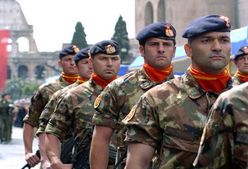 San Marco marine troops