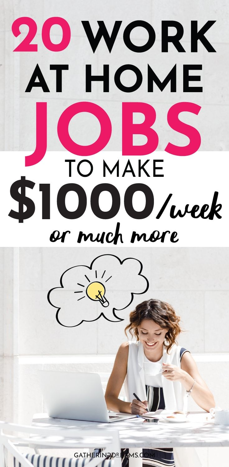 20 Best Ways To Make Money From Home In 2019 Work From