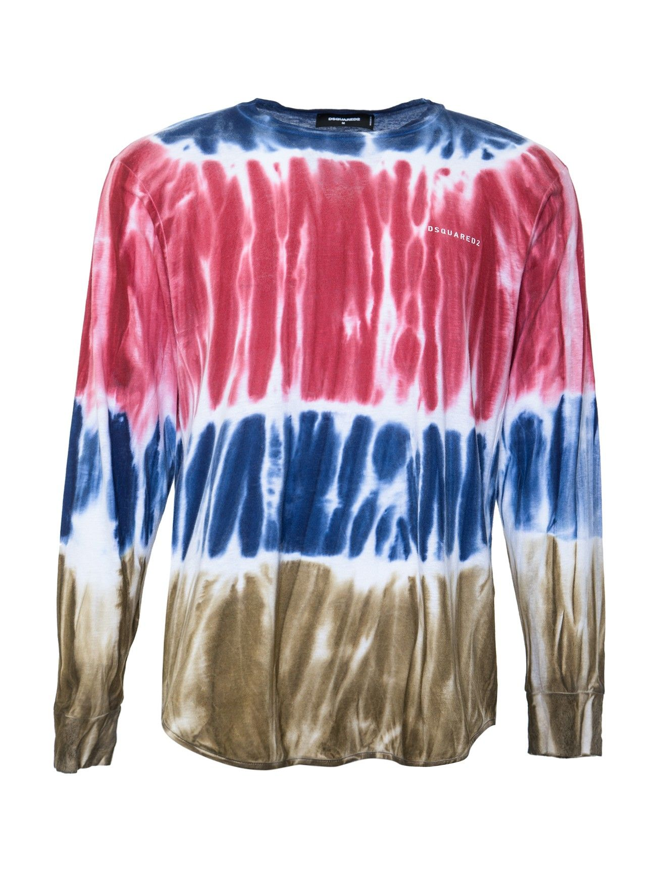 DSquared2 Long Sleeve Tie Dye Shirt - DSquared2 always designs funky and cool pieces to shake up your wardrobe. This tie-dye shirt is perfect for a fun day adventuring, concert hopping or globe-trotting.