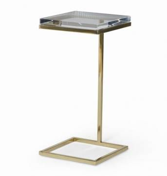 Martini Side Table acrylic martini side table with brushed bronze finish and acrylic