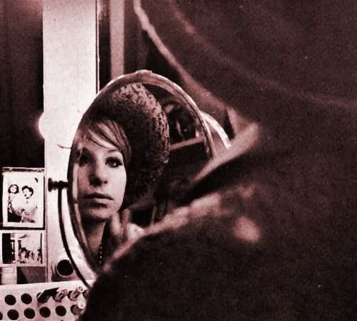 """Barbra Streisand, backstage during the """"Funny Girl"""" Broadway run (1964)."""