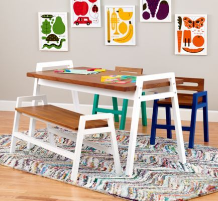Two Tone Teak Play Table The Land Of, Land Of Nod Furniture