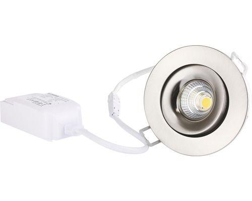 malmbergs led inbouwspot md 70 9w kantelbaar dimbaar met lamp 90 mm satijn