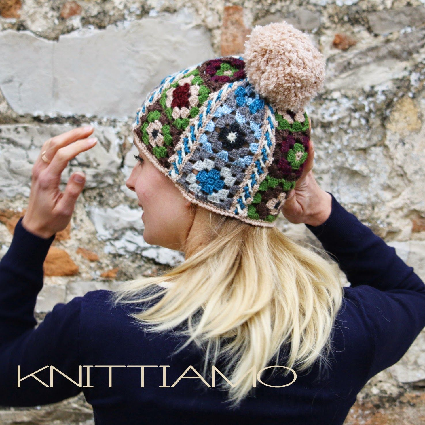 crochet pattern on etsy granny square cap by knittiamo