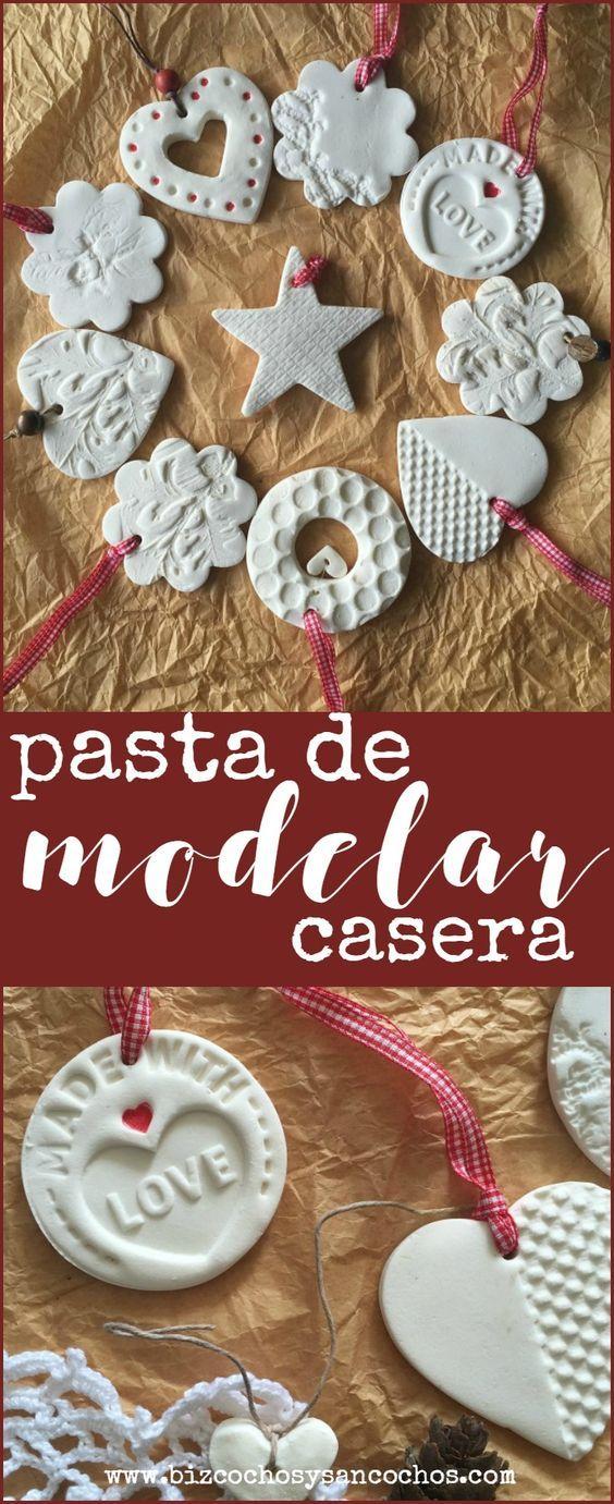 Pasta de modelar casera para hacer ornamentos navide os en for Adornos navidenos que se pueden hacer en casa