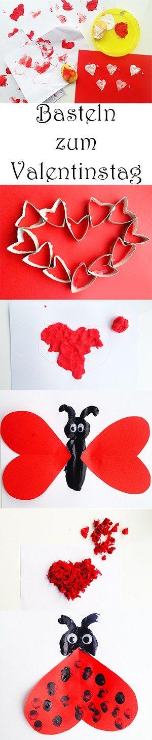 Malen Und Basteln Zum Valentinstag Mit Kindern Herz Basteln Malen