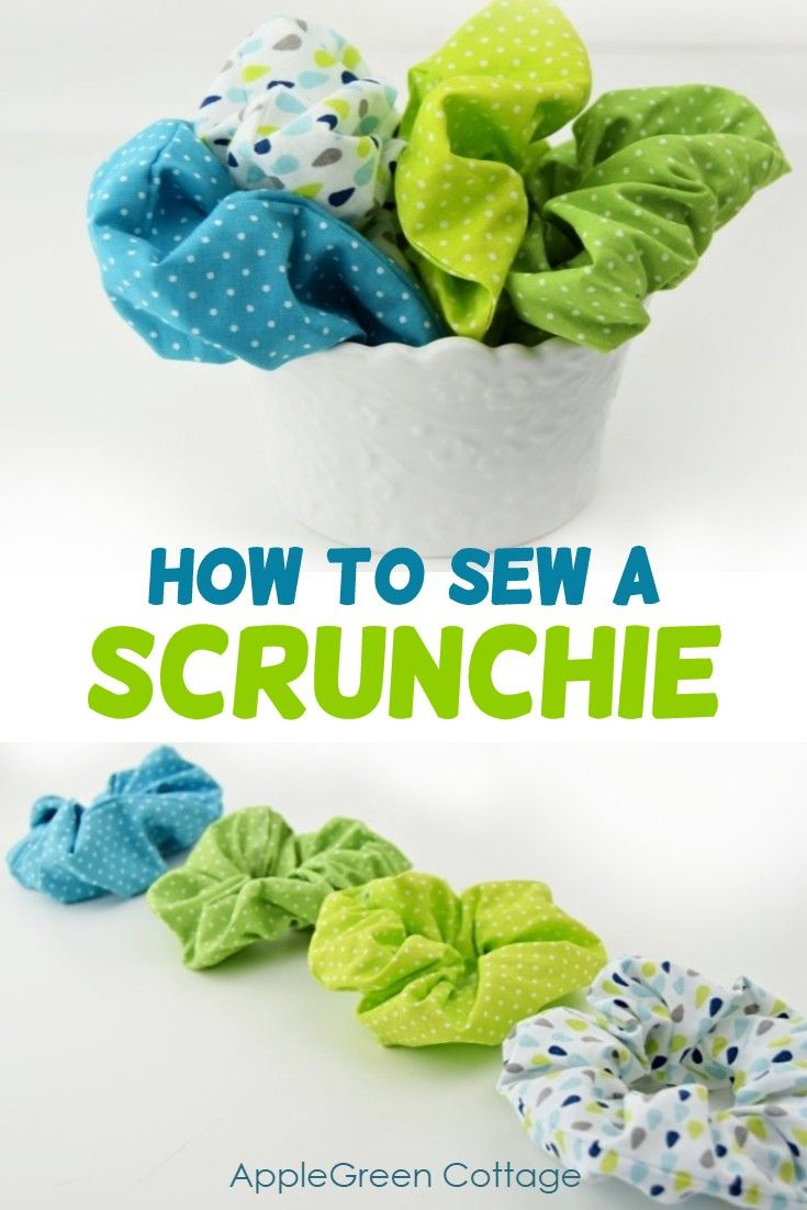 How to make a scrunchie. Making colourful hair scrunchies is simple - all you need is some pretty fabric and an elastic band. Become a pro in scrunchie making - make one in 5 super easy steps! #scrunchie #diyfashion