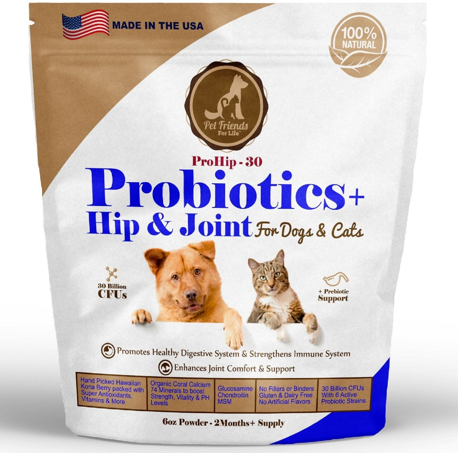 Best Probiotics Hip and Joint for Dogs and Cats 2 MONTHS