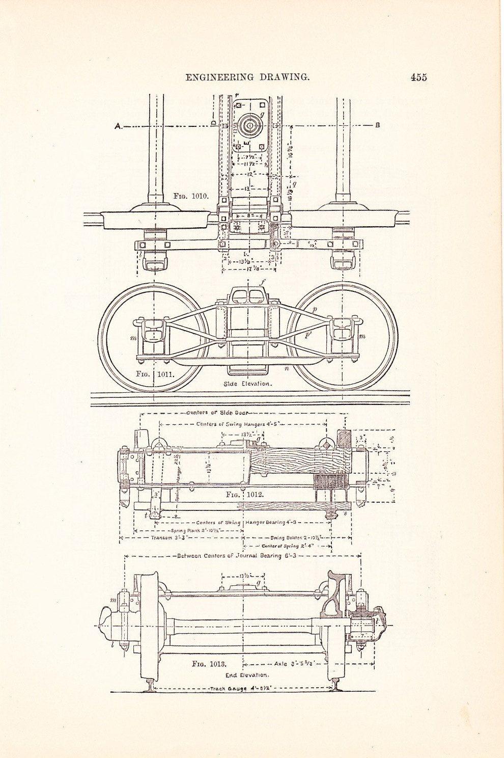 Drawing Board Technical Drawing Train Drawing Blueprint Art