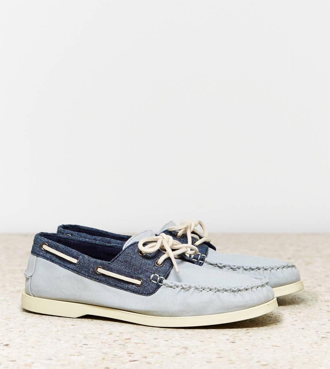 Grey AEO Canvas Boat Shoe