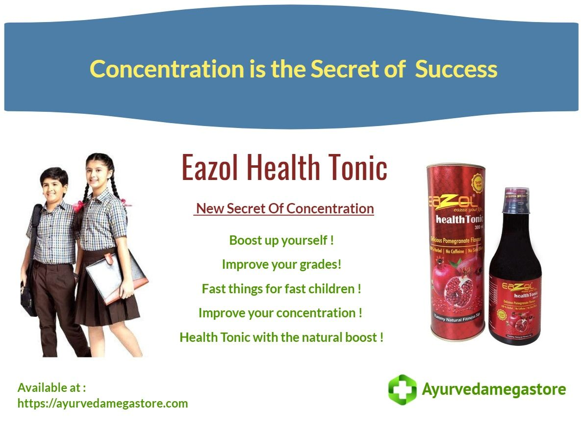 Eazol Health Tonic New Secret Of Concentration Now Available At
