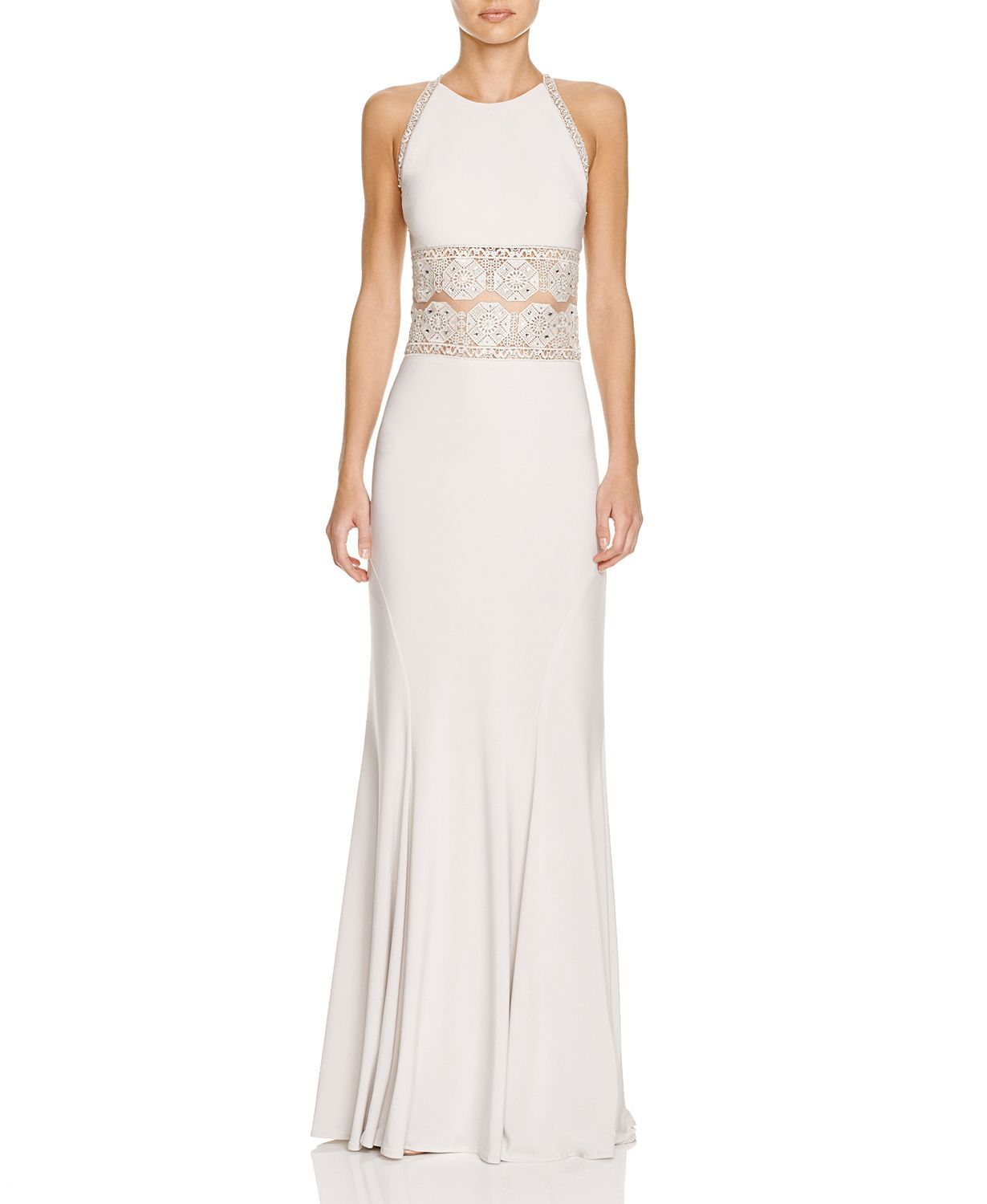 LM Collection Boho Illusion Lace Detail Gown | Bloomingdales's